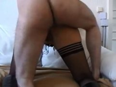 Amateur blonde ass creampied