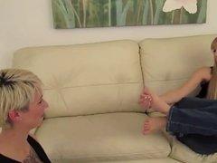 lesbians foot worship