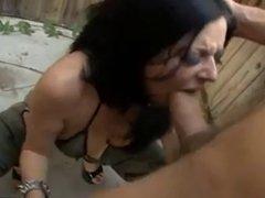 Hot Milf Takes Huge Cock In Both Holes