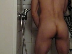huge plug falling from my ass in shower
