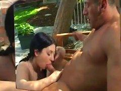Renee Pornero Sucks Off John West