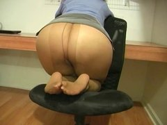 Butt Pose In Office