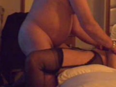 Stockings Milf taking hard cock