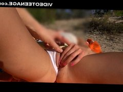 real teen nudist masturbates at beach