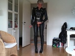 Sissy favorite sexy leather outfit 1