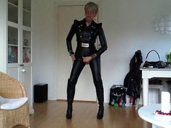 Sissy favorite sexy leather outfit 2