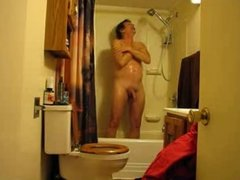 daddy old man shower in morning