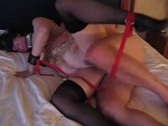Hotwife tied up and used by lover
