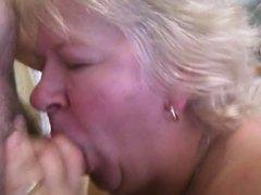 Nasty Old BBW Sucking Cock
