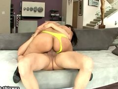Reena Sky fucks in yellow panties