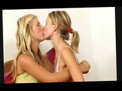 playful young blonde lesbians