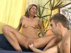 MILF get fisted by young guy