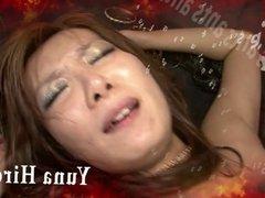 Redhead Asian chick Yuna Hirose gagging a throbbing cock and