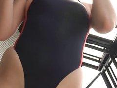softcore asian swimsuit bikini tease