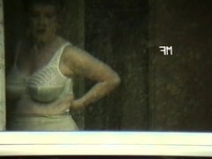 granny neighbor change bra at the window