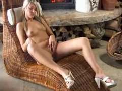 Blond by the fire