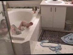 masturbates in bath