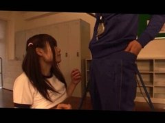 japanese schoolgirls (18+) playing with her sport teacher