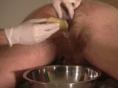 Dr. Peeemeee and Franco, spanking dildo after enema