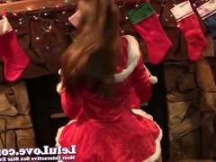 Like my Naughty Miss Santa outfit? Now watch me suck and fuc