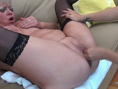 Daughter fisting her mature lesbian lover