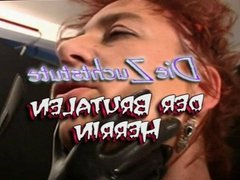 Red Hair Girl Fisting a Submissive Mature
