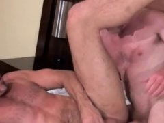 Tall man getting pounded