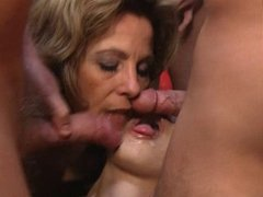 Mature German gangbang