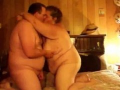 chubby couple having fun