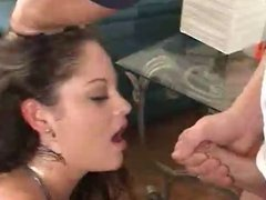 Angelina Adores to get Cum in the Eye