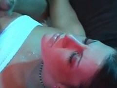 Beautiful face gets a small load