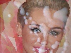 Cum Tribute Miley Cyrus