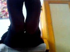 Serbian girl nylon feet (Marija)