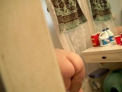 My BBW Ex Bending Over In Bathroom