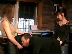Boss gets banged in the office