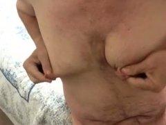 Artemus - Man Tits Nipple Clamps & Cum