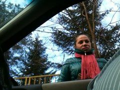 Flashing in car 09