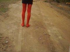 Cum in nylon socks