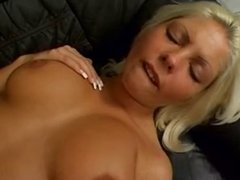 Hot blonde fucked in the ass and came in her mouth .