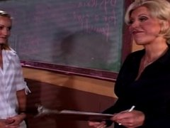 Old Mature & Young Teen Lesbian - New Teacher Diciplined