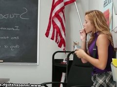 InnocentHigh Smoker teen student fucked in classroom