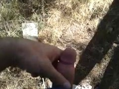 small dick cum in the forest