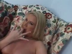 Busty Blonde Finger Fucks Her Wet Pussy
