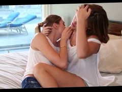 MILF and Skinny Teen Have Lesbian Sex