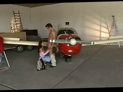 German Teen fucked next plane