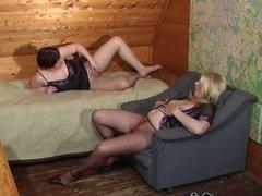 Russians Mature lesbian Moms in pantyhose! Amateur!