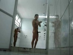 jerking off in public shower