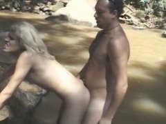 Fantastic sex near waterfall