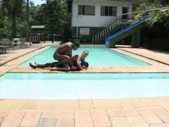 Cris Bel's Poolside Threesome