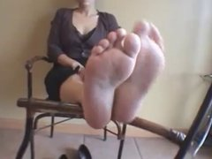 Red Toenails and Pretty Soles